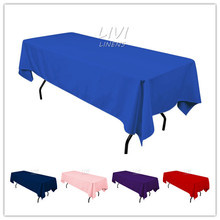 All size Tablecloth Polyester Rectangular Round Wedding Party Hotel Decorations 50 colors for option(China (Mainland))