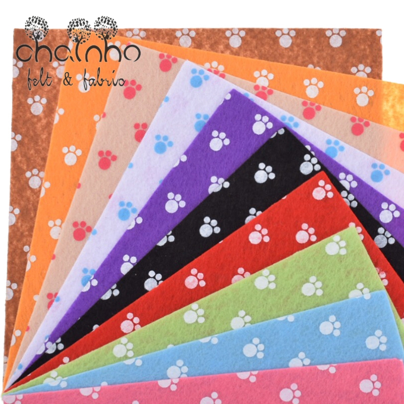Printed Felt Non Woven Fabric 1mm Thickness Polyester Cloth For Sewing Dolls Crafts Home Decoration Pattern Bundle 10pcs15x15cm(China (Mainland))