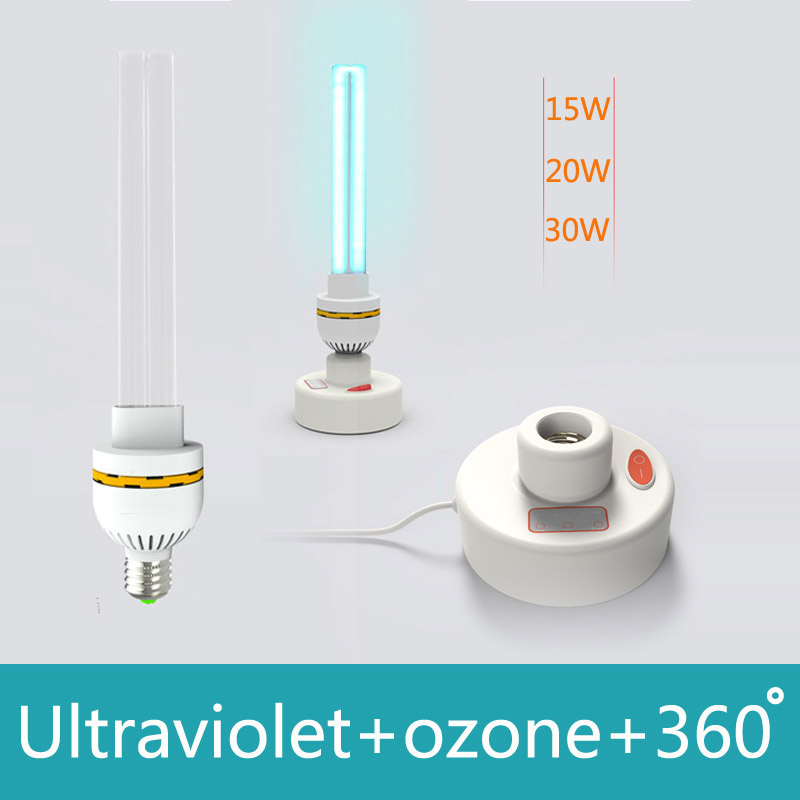 Ultraviolet Lamps UV ozone sterilization lamp 220V 15W 20W 30W Ultraviolet disinfection germicidal lights lamp for home E27(China (Mainland))
