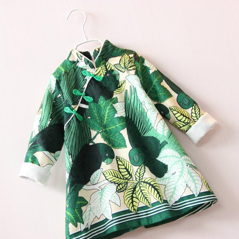Скидки на Новый 2016 осень/весна дети одежда девочек горошек платье с длинными рукавами дети девушки платье принцессы