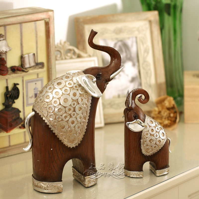 Large gift mother and son elephant decoration home for Elephant decorations home