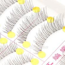 10 Pairs Makeup Handmade Natural Fashion False Eyelashes Soft Long Eye Lash Cosmetic Free shipping(China (Mainland))