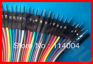 NEW New 40pcs 20cm 1p-1p male to male jumper wire Dupont cable for Arduino Breadboard Free shipping (Mini Order Is $7,Mix Order)