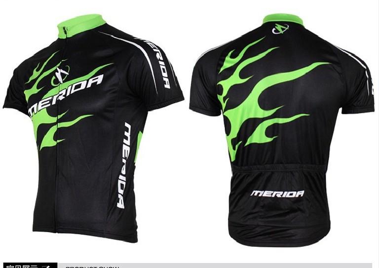 2016 Merida Man Cycling Jersey Green Bicycle Bike Short Sleeve Sportswear Cycling Clothing CC0002()