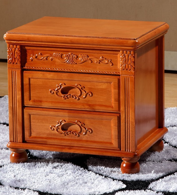 EC FURNITURE Simple wood nightstand oak nightstand drawer storage cabinets walnut wood lockers can be customized FREE SHIPPING(China (Mainland))