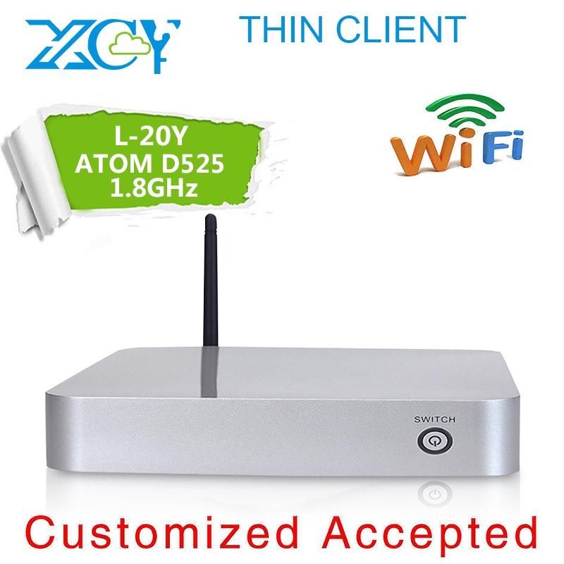 On sale for XCY L-20Y mini pc D525 atom with 4g ram 16g ssd ncomputing x300 box pc, thin client computer no noise, less heat(China (Mainland))