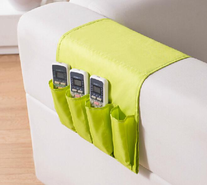 2015 Free Shipping Oxford Fabric Sofa Bag Remote Control Storage Bag At Home Multicellular Multi-layer Storage Bag(China (Mainland))