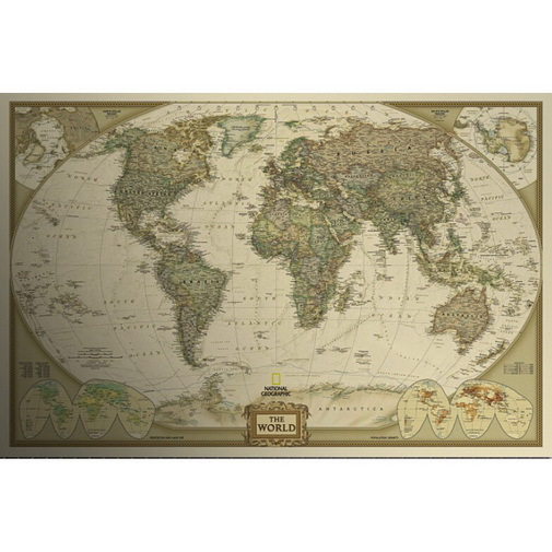 Hot Fashion Large World Map Wall Sticker Home Decoration Wall Art Antique Decals Map Of World Free Shipping(China (Mainland))