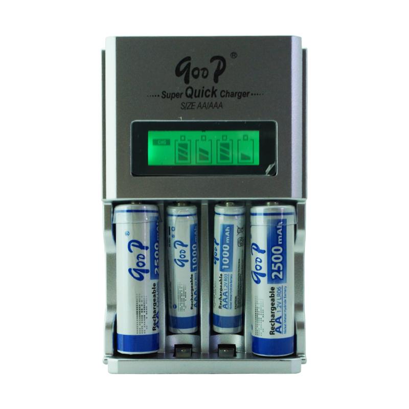 GODP AA battery AAA battery Rechargeable battery charge set charger +2 AA 2500MAH+2 AAA 1000MAH(China (Mainland))