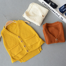 OneTwo 1-5Y Baby Boy V-neck Sweater Vest Children sweatercoat Kids Knit Jacket Brand waistcoat Outwear Winter Coat Clothes