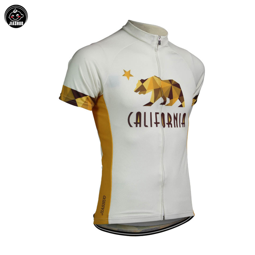 NEW 2017 BEAR CALIFORNIA Jersey Bike Team Bicycle Cycling Jersey / Wear Clothing Breathable Customized Ropa CICLISMO JIASHUO(China (Mainland))