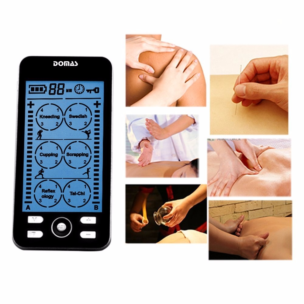 DOMAS TENS Unit Electronic Massager Pain Relief Machine for Neck Shoulder Muscle Sore Joint Lower Back Pain Black(China (Mainland))
