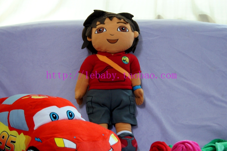 Diego Plush Toys Dora the Explorer Large Cartoon Doll Hot Sale Go Diego Endorsement Package Boy in Red Puppet Baby Toy 63CM(China (Mainland))
