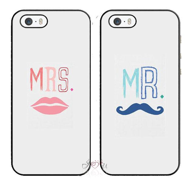 2pcs/lot MRS. and MR. Lip Beard Lover Pair Matching phone case cover fits for iphone 4/4s 5/5s 5c SE 6/6s plus ipod touch4/5/6(China (Mainland))