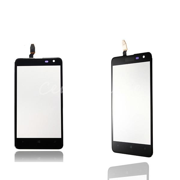 Wholesale Black Outer Replacement Parts Front LCD Lens Display Touch Screen Digitizer With Frame Glass Panel For Nokia Lumia 625(China (Mainland))