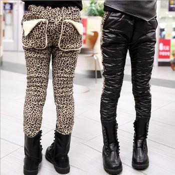 5pcs/lot girls' leopard thick warm pants autumn winter wear children's clothing ZZ1363