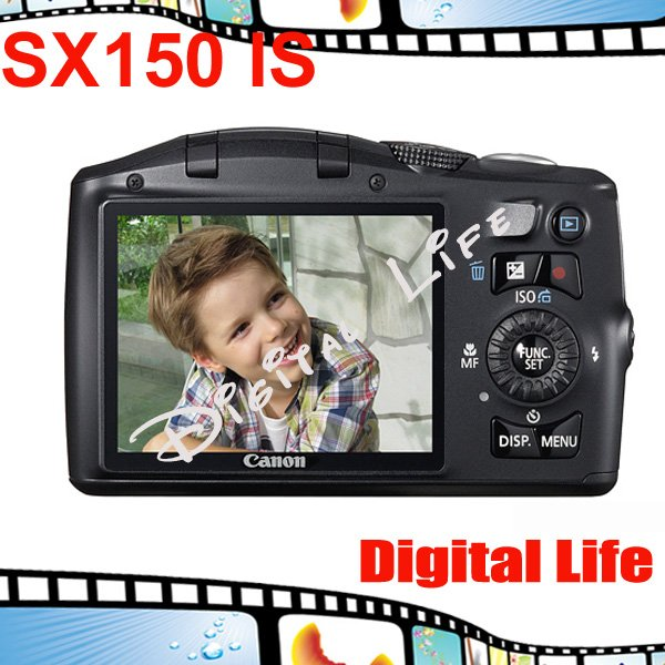 Original Canon PowerShot SX150 IS Digital Camera 12x Optical Zoom, 4x Digital Zoom,14MP Sensor Resolution Free Shipping!!!(China (Mainland))
