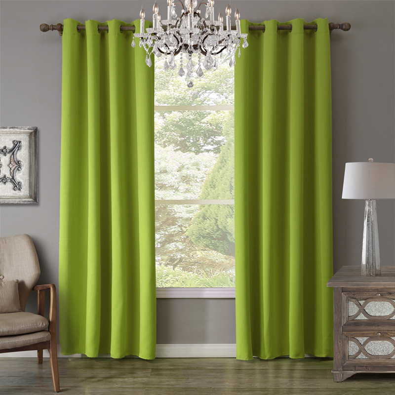 piece green curtain for living room blackout curtain for bedroom