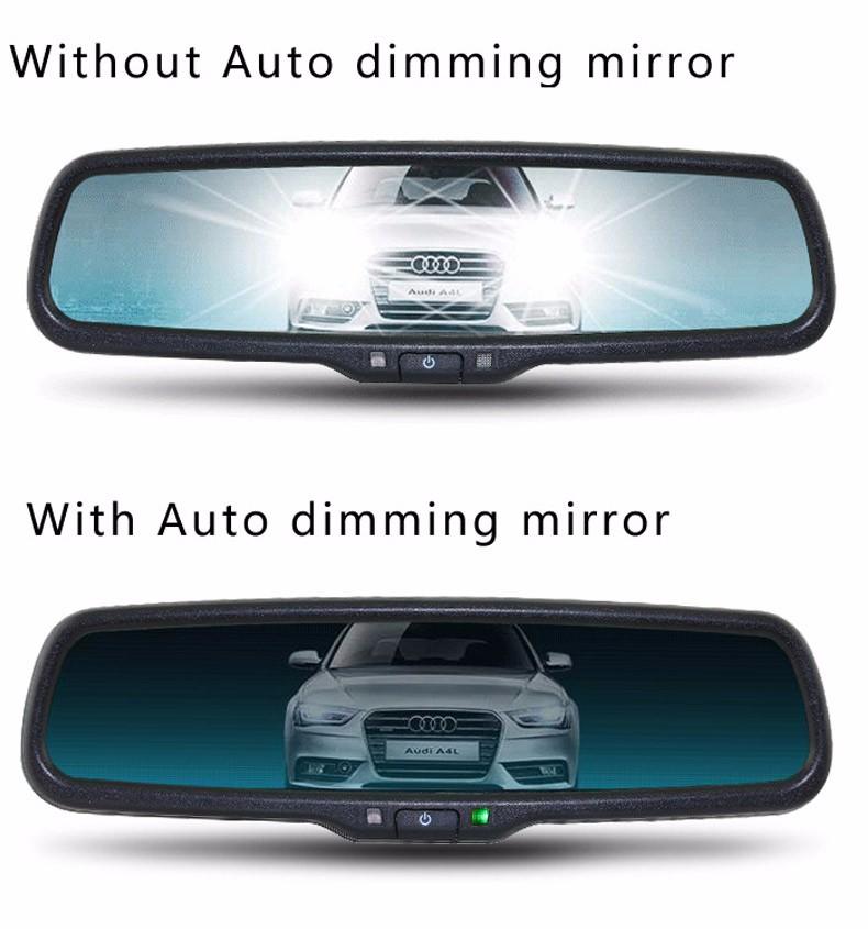 Купить Авто Затемнением 4.3 TFT LCD HD 800*480 Специальный Кронштейн Автомобиля парковка Заднего Вида Зеркало Заднего Вида Монитор Для Toyota Kia Hyundai Nissan