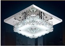 Moderno ed elegante 12 w soffitto lampadario di cristallo k9 lampada ac110v-soggiorno apparecchi di illuminazione della lampada luci corridoio sz03(China (Mainland))