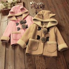Buy BibiCola baby girls christmas longer autumn winter jacket Children outerwear kids warm outfits PU leather thicken coats 2-5Y for $14.74 in AliExpress store