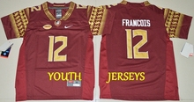 Stitiched,2016-2017 newest Florida State Seminoles Deondre Francois Jameis Winston Dalvin Cook Deion Sanders for youth kids(China (Mainland))