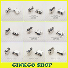 10Models,100pcs total Micro USB 5Pin jack tail sockect, Micro Usb Connector port sockect for samsung Lenovo Huawei ZTE HTC ect(China (Mainland))