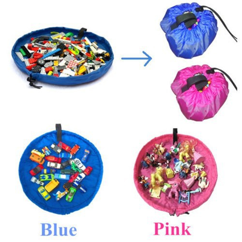 New Portable Kids Toy Storage Bag and Play Mat Building blocks Toys Organizer Bin Box XL Pouch(China (Mainland))
