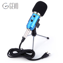 GEVO MK-F200FL Condenser Microphone Professional Wired System Desktop New USB Microphones For Computer Karaoke Video Recording(China (Mainland))