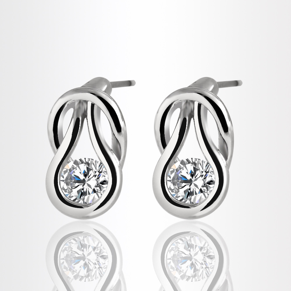 And American fashion temperament European Zircon Earrings market new S3247(China (Mainland))