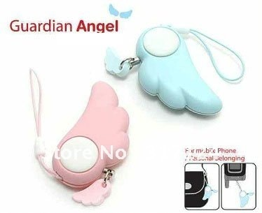 Portable Personal Safety Guard Alarm,Anti-lost Alarm,Mini Cute Angel Wing, Christmas gift,Free Shipping by DHL/EMS/FedEx