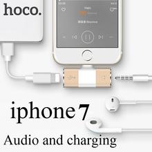 HOCO Молния цифровой Аудио и Зарядки Данных Конвертер Адаптер Интерфейса для iPhone7/7 Плюс 3.5 мм Наушников Earpods джек(China (Mainland))