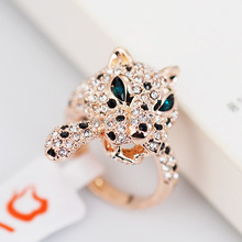 R110961 Hot sale Elegant Crystal Tiger Ring Zinc Alloy 18K Rose Gold platinum Plated With Austria crystal fashion Women Jewelry(China (Mainland))