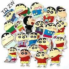 Buy TD ZW 21pcs/lot Japanese cartoon NO repeat Crayon Shin-chan DIY stickers Luggage Suitcases Guitar Skateboard laptop stickers for $2.69 in AliExpress store