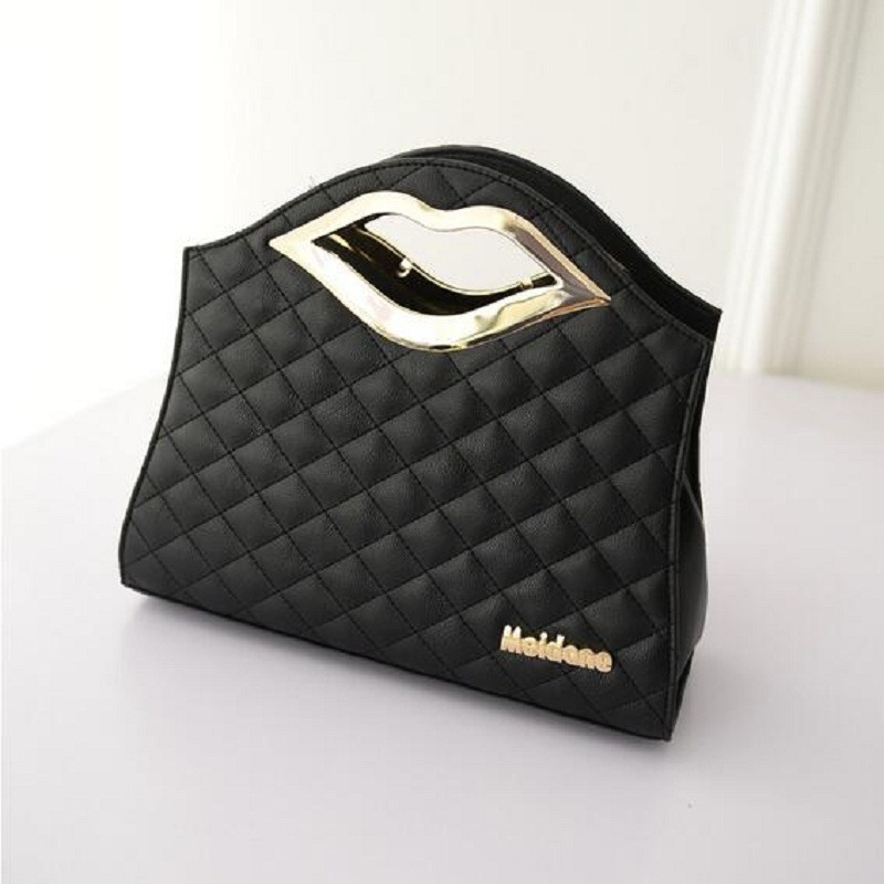 2016 New Fashion Women's Handbag Hard Casual Clutch Versatile Female Tote Cute Mouth Bag Solid Bag Handbag(China (Mainland))
