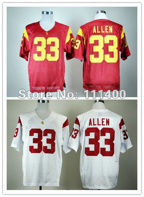 f5cf73cb29e Good Quality Hot Sale NCAA Jerseys USC Trojans #33 Marcus Allen Red White  ncaa football