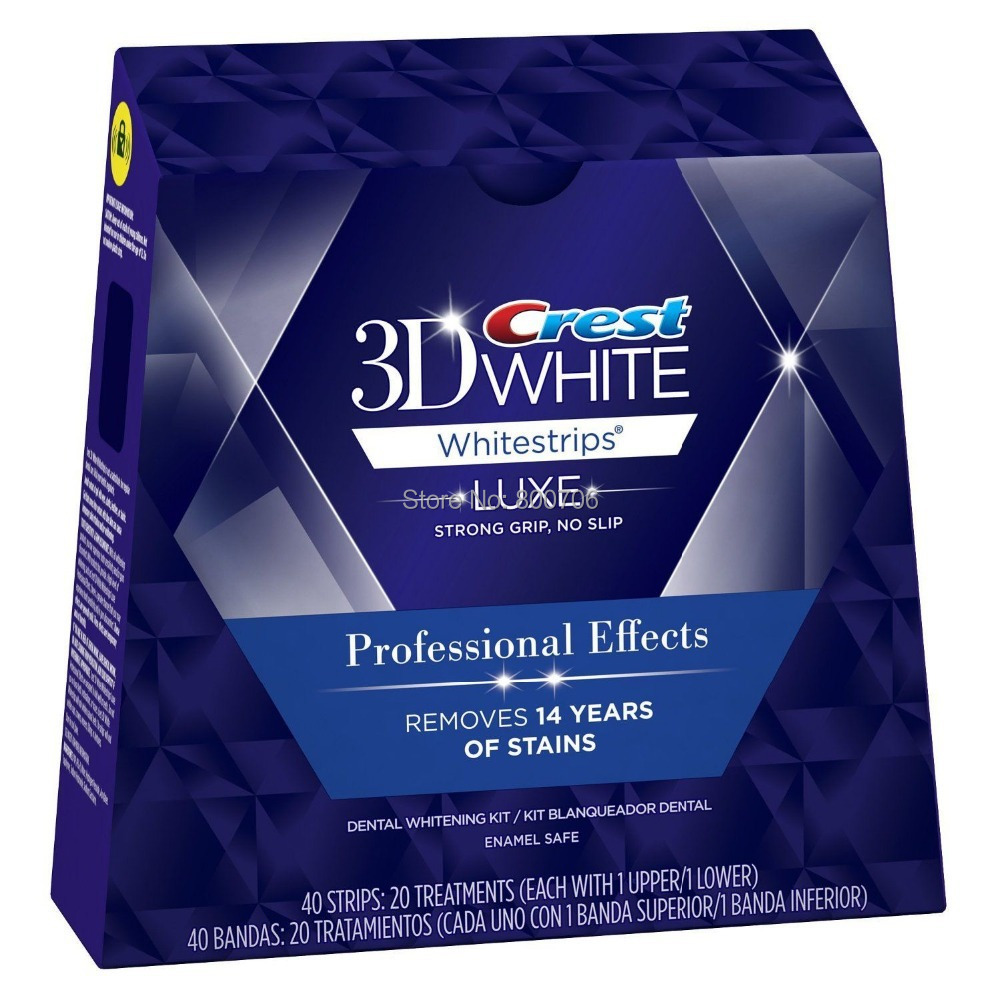40 Strips 20 Pouches / 1 Box Crest 3D White LUXE Professional Effects Whitestrips Crest Whitestrips(China (Mainland))