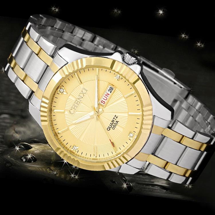 CHENXI Gold Watch Men Watches Top Brand Luxury Famous  Wristwatch Male Clock Golden Quartz Wrist Watch Relogio Masculino