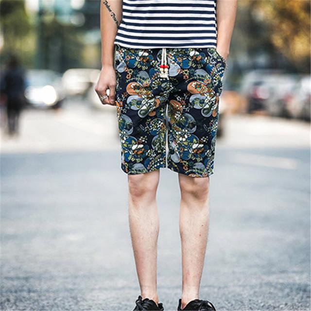 2016 свободного покроя шорты мужчины летом белье шаблон мужчины марка одежды Gym ...