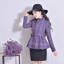 Original 2016 Autumn New Fashion Ladies Winter Outwear Single Breasted Stand Collar Women's Jacket Coat Plus Size Woolen Coats(China (Mainland))