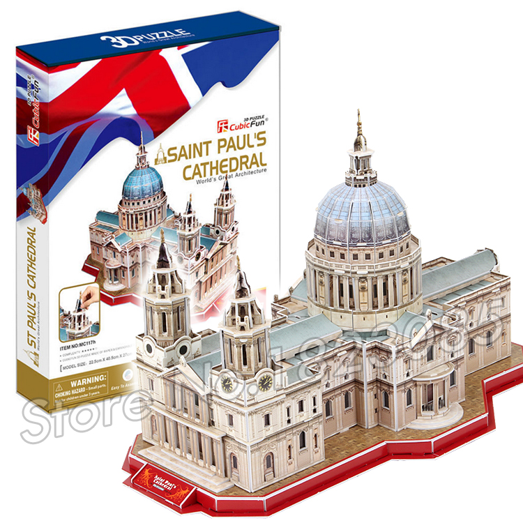 107PCS Saint Pual's Cathedral New 3D Puzzle DIY Jigsaw Assembly Model Building Set Architecture Creative gift Kids Children Toys(China (Mainland))