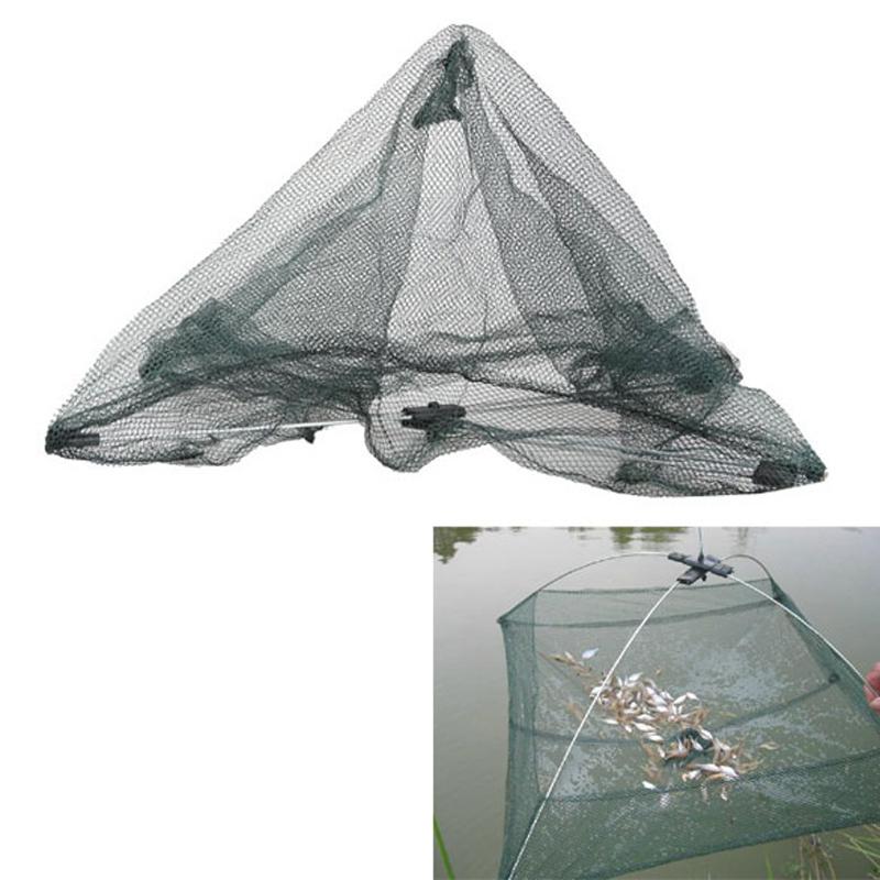 60 x 60cm Folding Fishing Net Nylon Network Shrimp Fish Net Casting Net Fishing Cage Fishnet rede de pesca BHU2(China (Mainland))