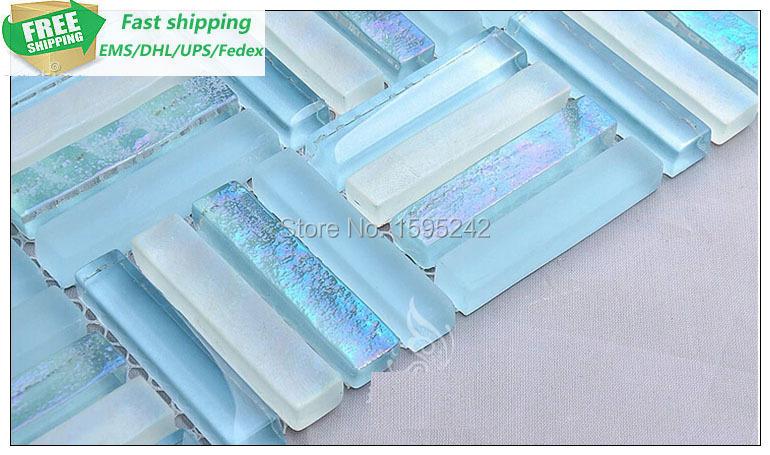 Free fast shipping High Quality Mosaic Crystal glass mirror Mosaic Mediterranean living room TV setting wall toilet Mosaic tiles(China (Mainland))