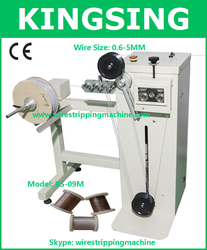 Wire Unwinder, Coxial Cable Re-reeling Machine With Double Motors KS-09M-1+ Free Shipping by DHL(China (Mainland))