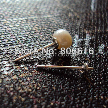 High Quanlity (Free Nickel) 200PCS Silver Plate Hoop Ear Stud Earrings Clasps Jewelry Accessories Findings