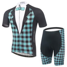New fashion 2015 men tartan design gentlemen Cycling Jerseys Bike Clothing /Quick-Dry Bicycle Sportwear