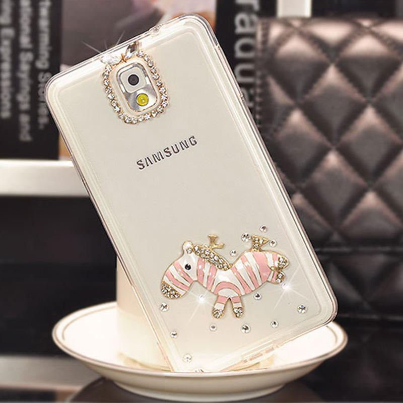 3D Trojans Handmade Crystal diamond bling cover phone case For Samsung i9300 i9500 Galaxy S3 S4 i8552 A3 A5 A7 J2 J1 Capa Fundas(China (Mainland))