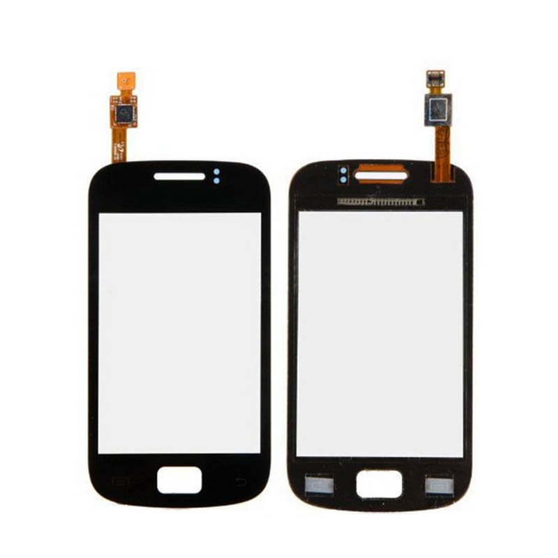 Free Shipping Touch Digitizer Lens Glass touch screen For Samsung GT S6500 Galaxy Mini 2 II S 6500 Black/White(China (Mainland))