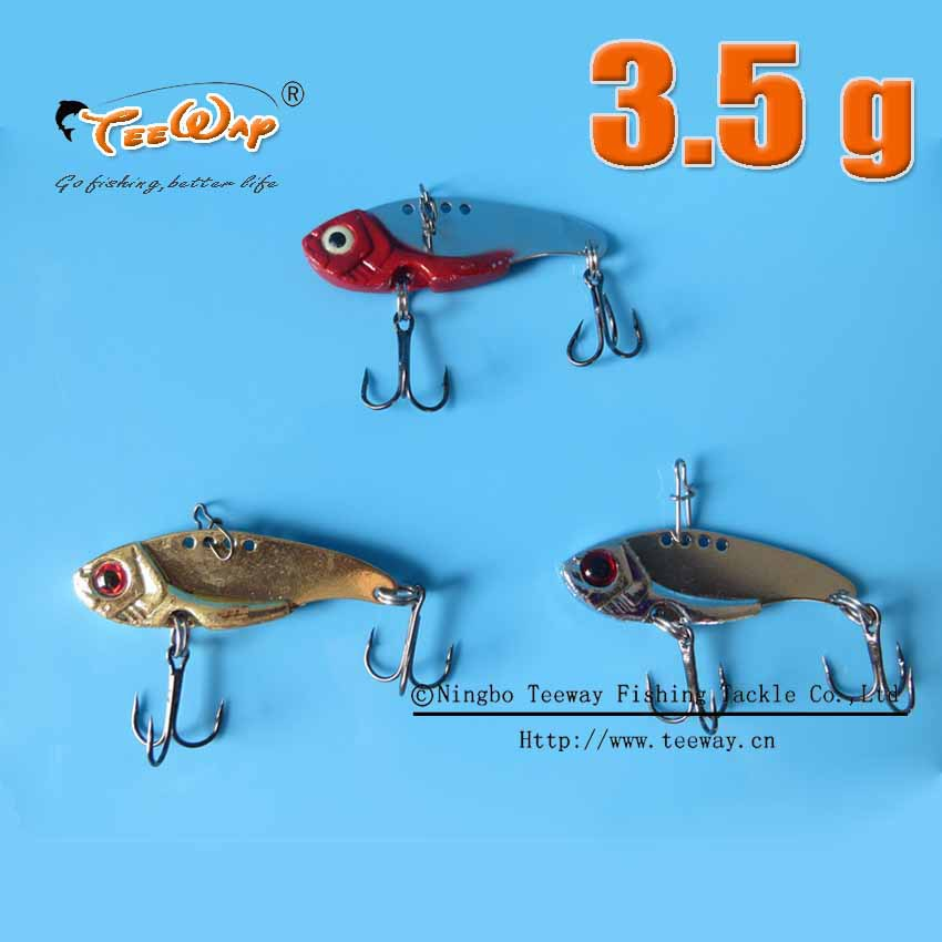 wholesale winter artificial metal fishing lure tackle wobbler crankbait hard lure vib fish spinner crank bait 5 size(China (Mainland))