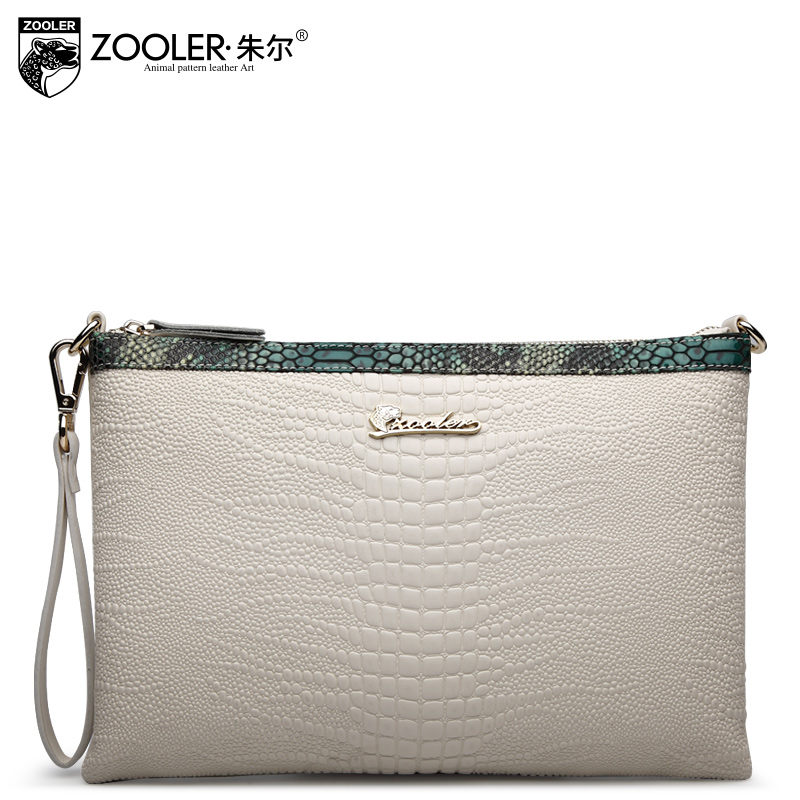 2016 ZOOLER famous brands genuine leather bag alligator cowhide clutch womens bags fashion zipper women shoulder messenger bags<br><br>Aliexpress